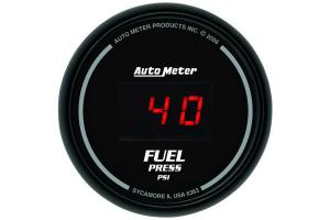 Autometer Sport-Comp Digital Fuel Pressure Gauge Red LED 52mm - Universal