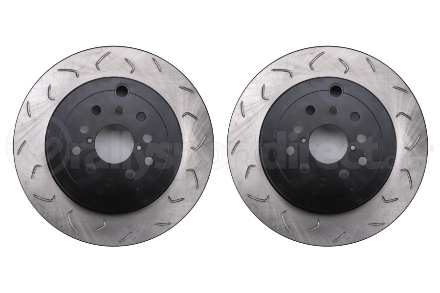 FactionFab Slotted Rear Rotor Dual Drilled 5X100 / 114.3 Pair - Subaru Models (Inc. STI 2008-2017 / WRX 2008 - 2014)