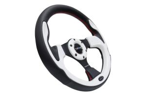 NRG Reinforced Steering Wheel 320mm Pilota White - Universal