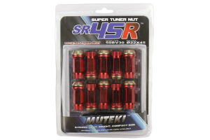 Muteki SR45R Red Open Ended Lug Nuts 12X1.25 - Universal