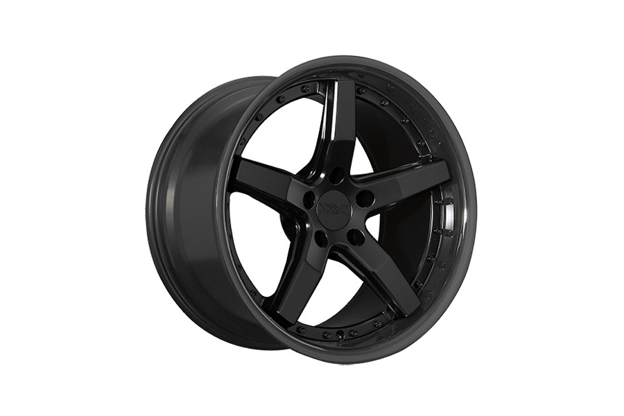 XXR 569 5x100 Flat Black w/ Gloss Black Lip - Universal