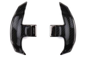 OLM LE Dry Carbon Fiber Paddle Jacket - Subaru CVT Models (inc. WRX 2015 - 2020)