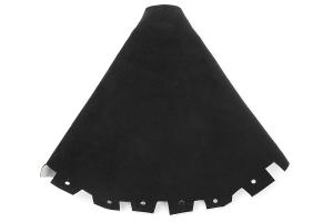JPM Coachworks Shift Boot Black Alcantara Red Stitching ( Part Number:JPM 1001A40-R)