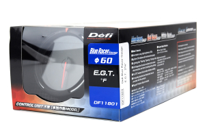 Defi Blue Racer EGT Exhaust Gas Temperature Gauge Imperial 60mm 400-2000F (Part Number: )