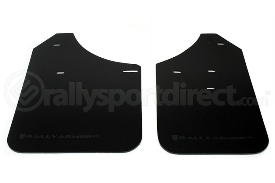 Rally Armor UR Mudflaps Black Urethane Grey Logo (Part Number:MF1-UR-BLK/GRY)