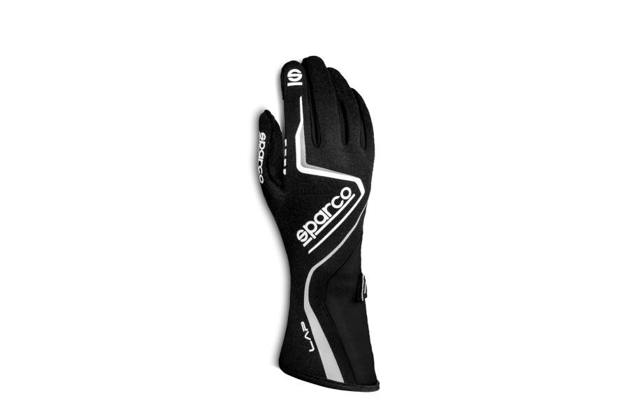 Sparco Lap Racing Gloves Black / White - Universal