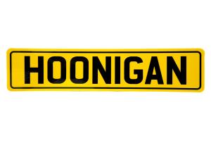 HOONIGAN EU Plate Sticker Yellow / Black - Universal