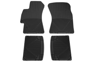 Weathertech Rubber Floor Mats Black Front and Rear (Part Number: )