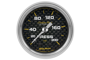 Autometer Carbon Fiber Pressure Gauge Mechanical 52mm - Universal