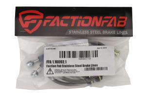 FactionFab Rear Stainless Steel Brake Lines - Subaru Models (inc. 2008-2017 STI / 2013+ BRZ)