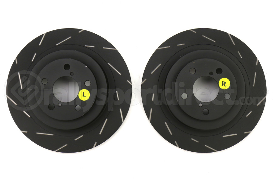 EBC Brakes USR Series Sport Slotted Rear Brake Rotors - Subaru WRX 2006-2007 / Legacy GT 2005-2009
