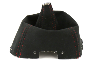 AutoStyled Black Microsuede Shift Boot w/ Red Stitching Standard Shifter - Subaru WRX 2009-2014