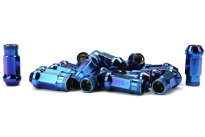 Muteki SR48 Chrome Burning Blue Open Ended Lug Nuts 12X1.25 (Part Number: 32905UN)