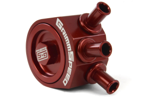 GrimmSpeed Air Oil Separator Red (Part Number: )