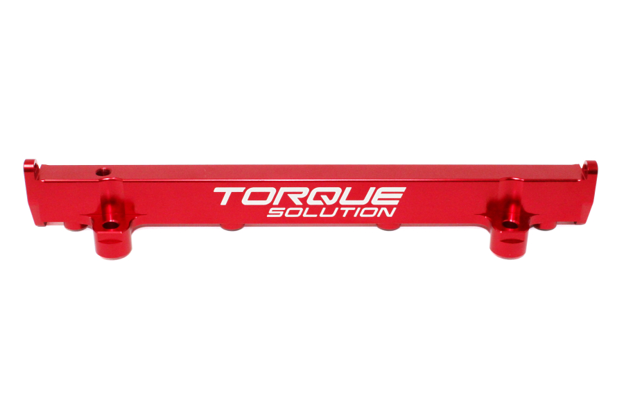 Torque Solution Billet Fuel Rail Red - Mitsubishi Evo 8/9 2003-2006