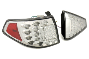 2014 Subaru Wrx Sti Hatchback >> Valenti Jewel LED Tail Light Clear Lens w Chrome Reflector - Subaru WRX STI 2008-2014 | TSGRIMP ...