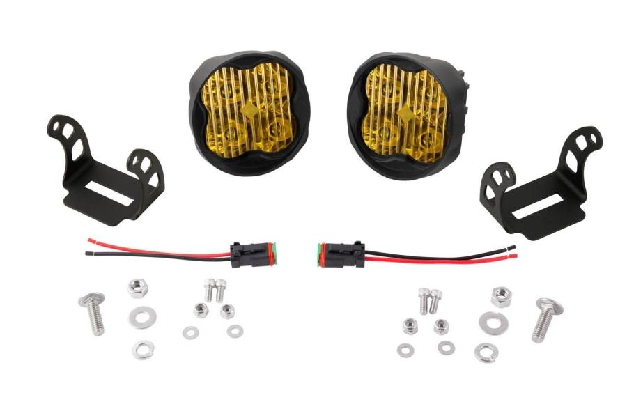 Diode Dynamics SS3 Pod Max Angled Fog Light Kit Yellow - Universal
