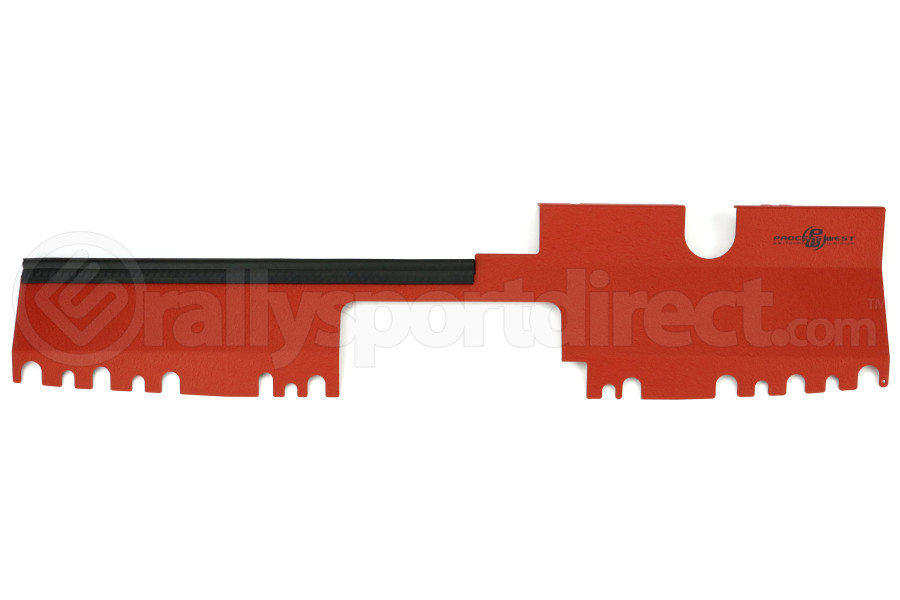Process West Radiator Cover Red Factory Intake (Part Number:PWED03R)