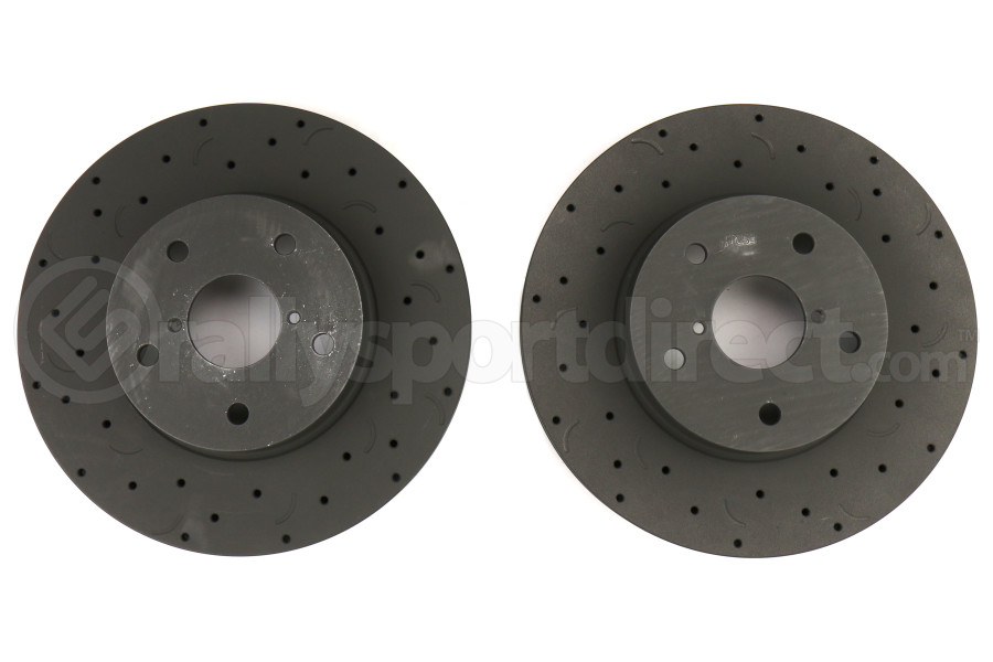 Hawk Talon Cross Drilled and Slotted Front Rotor Pair - Subaru WRX 2015+