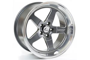 Cosmis Racing Wheels XT-005R 18x9 +25 5x114.3 Gunmetal w/ Machined Lip - Universal