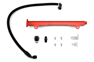 AMS Fuel Rail w/ Pulsation Damper Red (Part Number: )