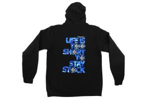 DigiCamo Life Is Too Short To Stay Stock Zip Hoodie Black ( Part Number: 314)