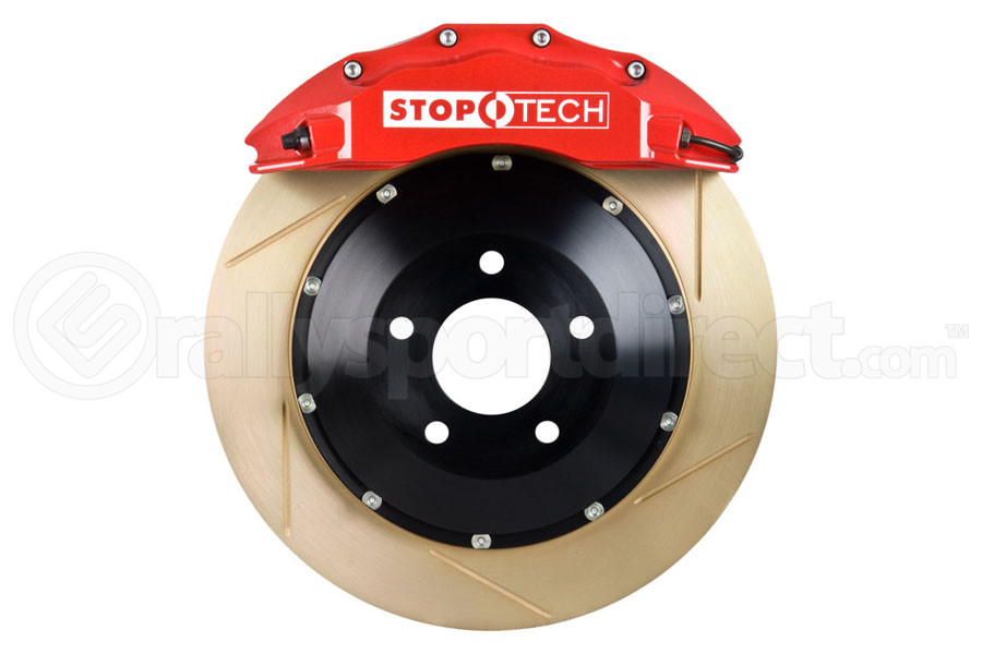 Stoptech ST-60 Big Brake Kit Front 355mm Red Zinc Slotted Rotors (Part Number:83.838.6700.73)