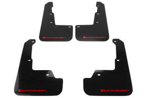 Rally Armor UR Mudflaps Black Urethane Red Logo ( Part Number:RAL MF32-UR-BLK/RD)