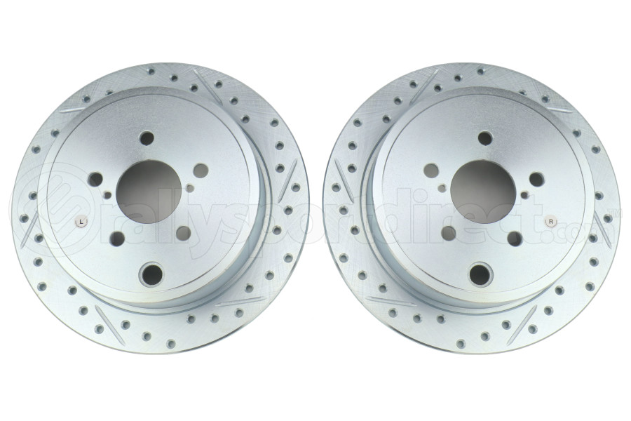 Stoptech C-Tek Sport Drilled and Slotted Rear Rotor Pair - Subaru Models (inc. 2008-2014 WRX)