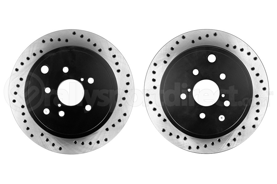 Stoptech Drilled Rear Rotor Pair (Part Number:128.47031-GRP)