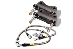 Stoptech ST-40 Big Brake Kit Front 355mm Black Zinc Slotted Rotors - Subaru WRX 2008-2014