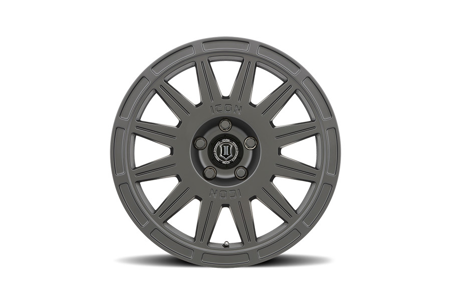 CrawfordSPEC Wheel by ICON Alloys 17x8 +38 5x100 Satin Black - Universal