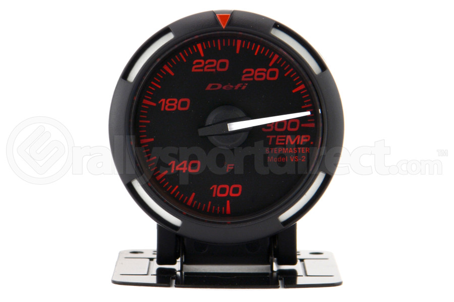 Defi Red Racer Temperature Gauge Imperial 52mm 100-300F White Needle (Part Number:DF06707)