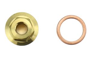 Torque Solution Oil Galley Plug M18x1.5 to 1/8 NPT Adapter - Subaru Models (inc. 2004+ WRX/STI)