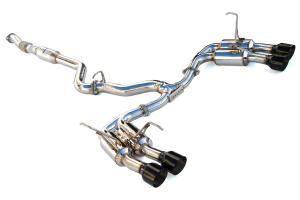 Invidia Gemini R400 Single Layer Cat Back Exhaust w/ Black Tips - Subaru WRX / STI 2015 - 2020