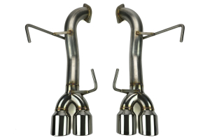 ETS Axle Back Exhaust System No Muffler Polished Tips ( Part Number: 400-31)