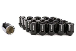 Volk Racing Dura-Nut L32 Straight Type Lug Nuts M12X1.50 Black (Part Number: )