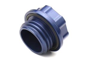 Boomba Racing Aluminum Oil Cap Blue - Subaru Models (inc. 2002+ WRX / STI)