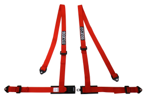 Sparco 2 Inch 4-Point Bolt-In Harness Red - Universal