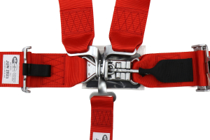 Corbeau 3 Inch 5-Point Latch & Link Harness Red - Universal