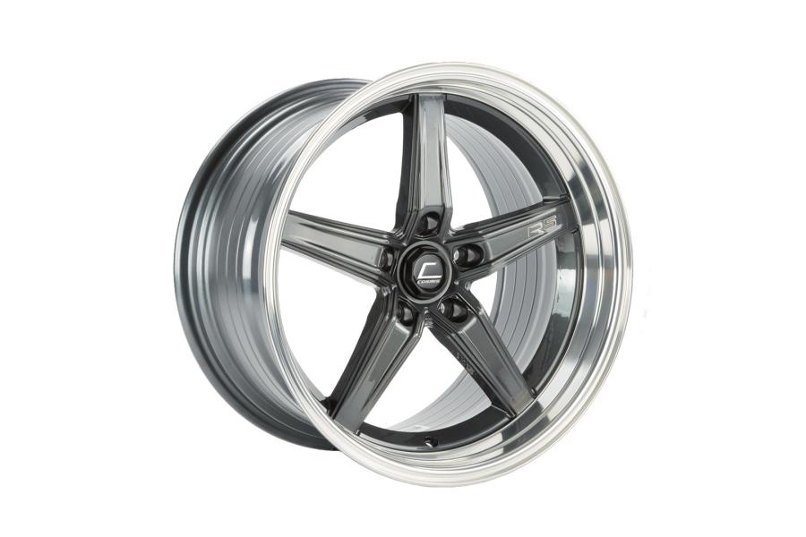 Cosmis Racing Wheels R5 18x9.5 +25 5x120 Gunmetal w/ Machined Lip - Universal