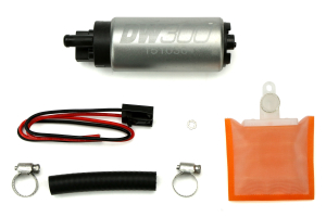 DeatschWerks DW300 Series Fuel Pump w/ Install Kit Universal ( Part Number: 9-301-1000)