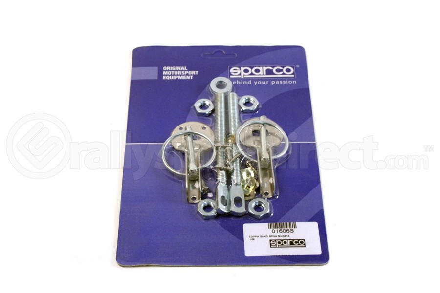 Sparco Hood Pins Silver Tuning ( Part Number:SPR2 01606S)