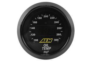 AEM Oil/Transmission/Coolant Temperature Gauge Digital 52mm (Part Number: )