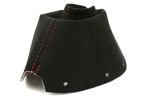 AutoStyled Black Alcantara Shift Boot w/ Red Stitching Standard Shifter ( Part Number:ASA 1301050101)