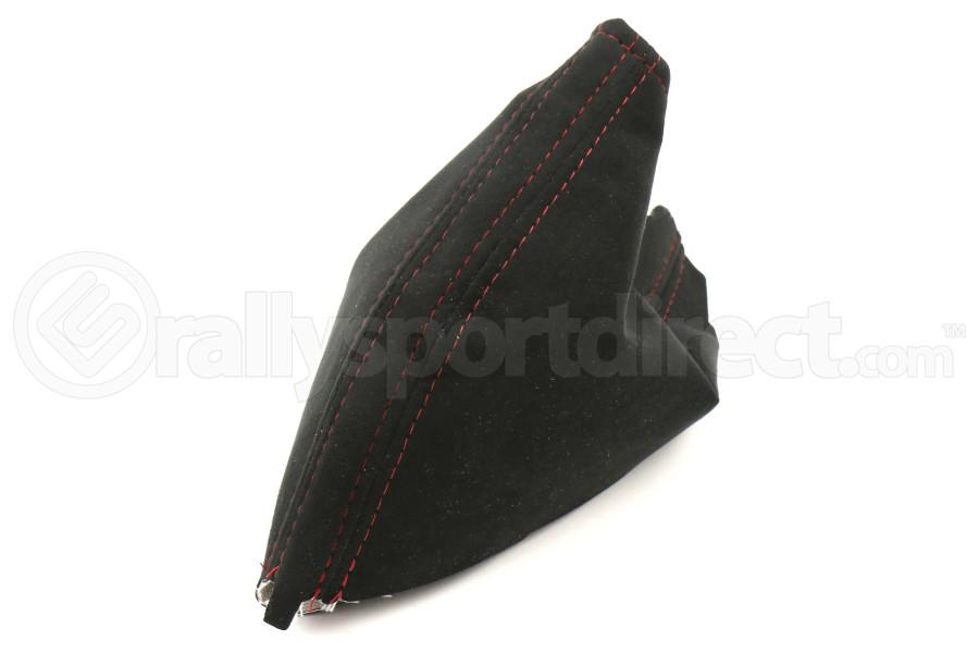 AutoStyled Black Microsuede E-Brake Boot w/ Red Stitching - Subaru STI 2008-2014 / Subaru WRX 2009-2014