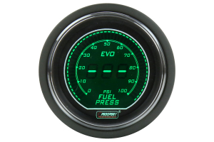 ProSport Digital Fuel Pressure Electrical w/Sender 52mm Green/White (Part Number: )