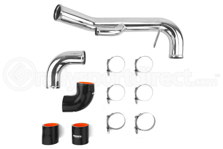 Mishimoto Lower Intercooler Pipe Hard Kit Black - Mitsubishi Evo X 2008-2015