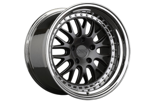 XXR 570 5x100 Graphite w/ Platinum Lip - Universal