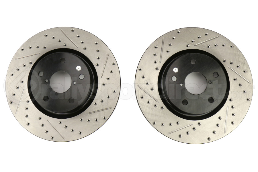 Stoptech Drilled and Slotted Front Rotors (Part Number:127.47027-GRP)